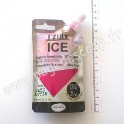IZINK ICE PEINTURE TRANSLUCIDE EFFET GLACÉ 80 ml ROSE CERISE