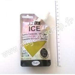 IZINK ICE PEINTURE TRANSLUCIDE EFFET GLACÉ 80 ml VERT VERVEINE