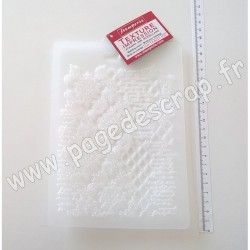 STAMPERIA SOFT MOULD A5 TEXTURE WITH SCRIPTURES ( moule pour modelage )