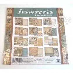 STAMPERIA AROUND THE WORLD 10 feuilles R/V 30.5 cm x 30.5 cm 190 gr