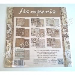 STAMPERIA OLD LACE 10 feuilles R/V 30.5 cm x 30.5 cm 170 gr