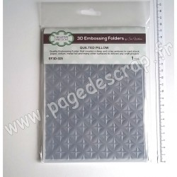 EF3D-025   CREATIVE EXPRESSIONS EMBOSSING FOLDER3D QUILTED PILLOW 190mm x 145mm