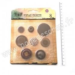 960346   FINNABAIR VINTAGE MECHANICALS WASHERS 1  x8 pièces