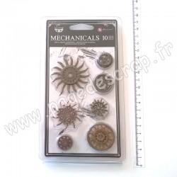 963453   FINNABAIR MECHANICALS STEAMPUNK GEARS x10 pièces