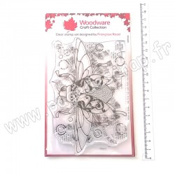 FRS815   CREATIVE EXPRESSIONS TAMPON CLEAR WOODWARE DANCING BEETLE