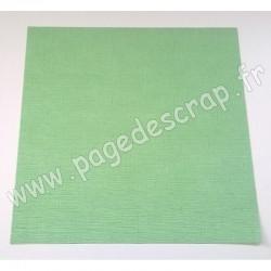 VINT08   CARDSTOCK VINTAGE VERT PRINTEMPS 30.5 cm x 30.5 cm