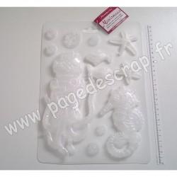 K3PTA464   STAMPERIA SOFT MOULD A4 SEA WORLD ( grand moule en PVC flexible )
