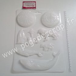 K3PTA476   STAMPERIA SOFT MOULD A4 LE MONDE ARCTIQUE ( grand moule en PVC flexible )