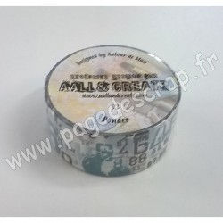 AALL AND CREATE WASHI TAPE 3 PONDER 20mm x 10m