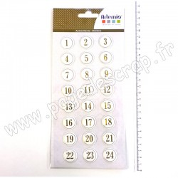 11004961   ARTEMIO PUFFIES CALENDRIER AVENT ROND GOLD
