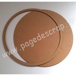 PDS CADRE BOIS ROND AVEC FOND diam.29,5 cm