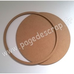 PDS CADRE BOIS ROND AVEC FOND diam.25,5 cm