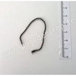 CHAÎNETTE BOULE NOIR 1,5 mm x 10 cm