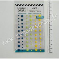 FDEN320003   FLORILEGES DESIGN  DOTS YELLOW  (66 pièces)