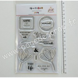 PND-LC-CS2   PAPERNOVA DESIGN TAMPONS TRANSPARENTS LIFE IN COLOR 2