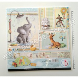 CBPM042A   CIAO BELLA MY FIRST YEAR VOL.1 12 imprimés R/V 30.5 cm x 30.5 cm 190g
