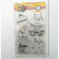 STAMPBM63   STUDIO LIGHT CLEAR STAMP ART BY MARLENE ANIMAUX LOUFOQUES NR.63