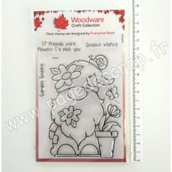 FRS845   CREATIVE EXPRESSIONS TAMPON CLEAR WOODWARE GARDEN GNOME
