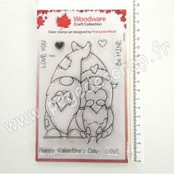 FRS846   CREATIVE EXPRESSIONS TAMPON CLEAR WOODWARE VALENTINE GNOME