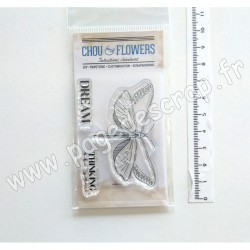 IMA141   CHOU & FLOWERS COLLECTION VOYAGE IMAGINAIRE TAMPON CLEAR BUTTERFLY