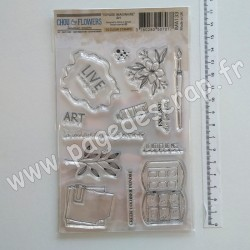 IMA133   CHOU & FLOWERS COLLECTION VOYAGE IMAGINAIRE TAMPON CLEAR ART