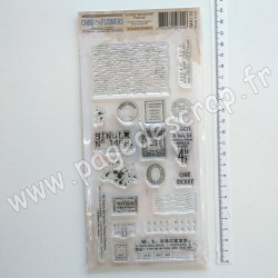 IMA130  CHOU & FLOWERS COLLECTION VOYAGE IMAGINAIRE TAMPON CLEAR POSTMAIL