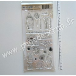 IMA128  CHOU & FLOWERS COLLECTION VOYAGE IMAGINAIRE TAMPON CLEAR MÉDITATION