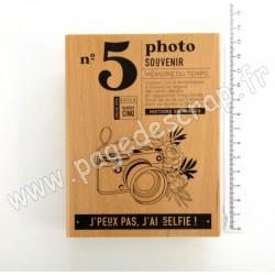 FHA121025  FLORILEGES DESIGN COLLECTION DOLCE VITA TAMPON BOIS PHOTO SOUVENIR
