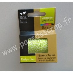 3908-044   VAESSEN FIL BAKERS TWINE 45m GREEN-WHITE