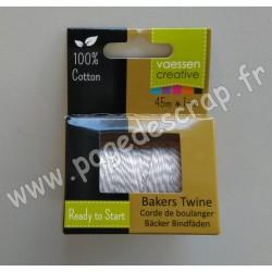 3908-048   VAESSEN FIL BAKERS TWINE 45m ECRU-WHITE