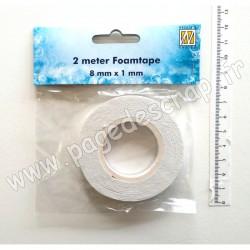 9.03.11.001   RUBAN MOUSSE 3D ADHÉSIF 0.8cm x 1mm x 2m