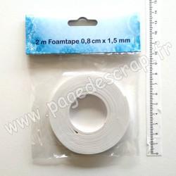 9.03.11.014   RUBAN MOUSSE 3D ADHÉSIF 0.8cm x 1.5mm x 2m