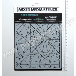 KSAT12   STAMPERIA POCHOIR MIXED MEDIA SIR VAGABOND CRACKS 15 cm x 20 cm