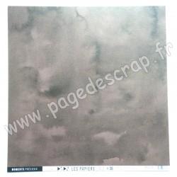 FDPU221001   FLORILEGES DESIGN  LES PAPIERS UNIS 36 MARRON CHOCOLAT 30.5 cm x 30.5 cm