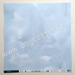 FDPU221003   FLORILEGES DESIGN  LES PAPIERS UNIS 38 BLEU ÉCUME 30.5 cm x 30.5 cm