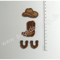PDS SUJET BOIS KIT COW-BOY COUNTRY