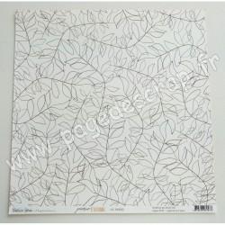 POE02   BÉATRICE GARNI ILLUSTRATION POÉSIE D'AUTOMNE - 02 30.5 cm x 30.5 cm