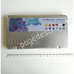 520N   NUVO WATERCOLOUR PENCILS BRILLANT VIBRANT x12 pièces (crayons aquarellables)