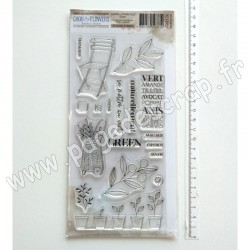 JOU126     CHOU & FLOWERS COLLECTION JOURNAL CHROMATIQUE TAMPONS CLEAR GREEN