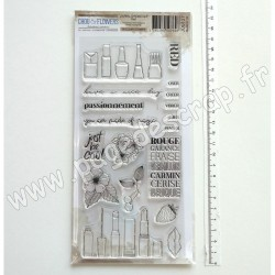 JOU127     CHOU & FLOWERS COLLECTION JOURNAL CHROMATIQUE TAMPONS CLEAR RED