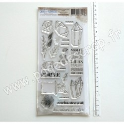 JOU128     CHOU & FLOWERS COLLECTION JOURNAL CHROMATIQUE TAMPONS CLEAR PURPLE