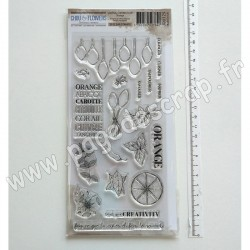 JOU129     CHOU & FLOWERS COLLECTION JOURNAL CHROMATIQUE TAMPONS CLEAR ORANGE