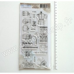 JOU130     CHOU & FLOWERS COLLECTION JOURNAL CHROMATIQUE TAMPONS CLEAR BROWN