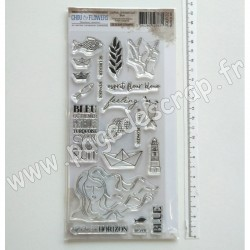 JOU132     CHOU & FLOWERS COLLECTION JOURNAL CHROMATIQUE TAMPONS CLEAR BLUE