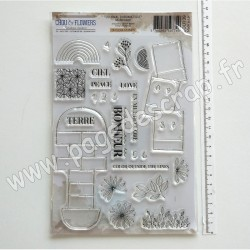 JOU139     CHOU & FLOWERS COLLECTION JOURNAL CHROMATIQUE TAMPONS CLEAR MULTICOLORE