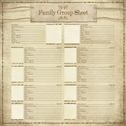 MY FAMILY GROUP SHEET