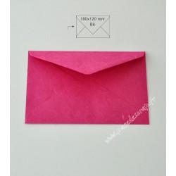 ENV B6 SOIE JAPON ROSE OEILLET