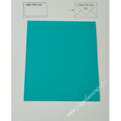 CARTE A6 TURQUOISE