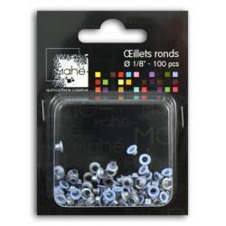 OEILLETS 1/8 BLEU CIEL