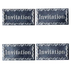 4 SILH METAL INVITATION